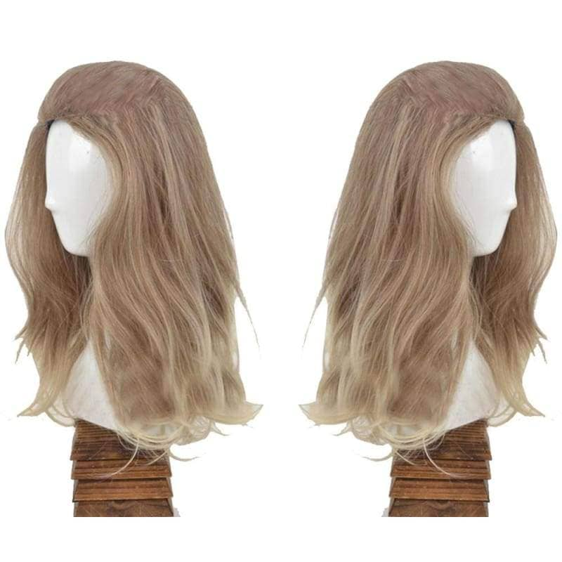 Invisible Woman Cosplay Fantastic Four Sue Storm Gray Medium Long Hair Halloween Costume Wig - Wigs 2