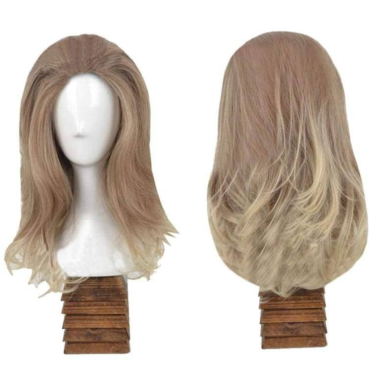 Invisible Woman Cosplay Fantastic Four Sue Storm Gray Medium Long Hair Halloween Costume Wig - Wigs 1