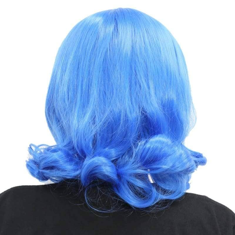 Juvia Wig Fairy Tail Cosplay Short Dark Blue Curly - Wigs 2