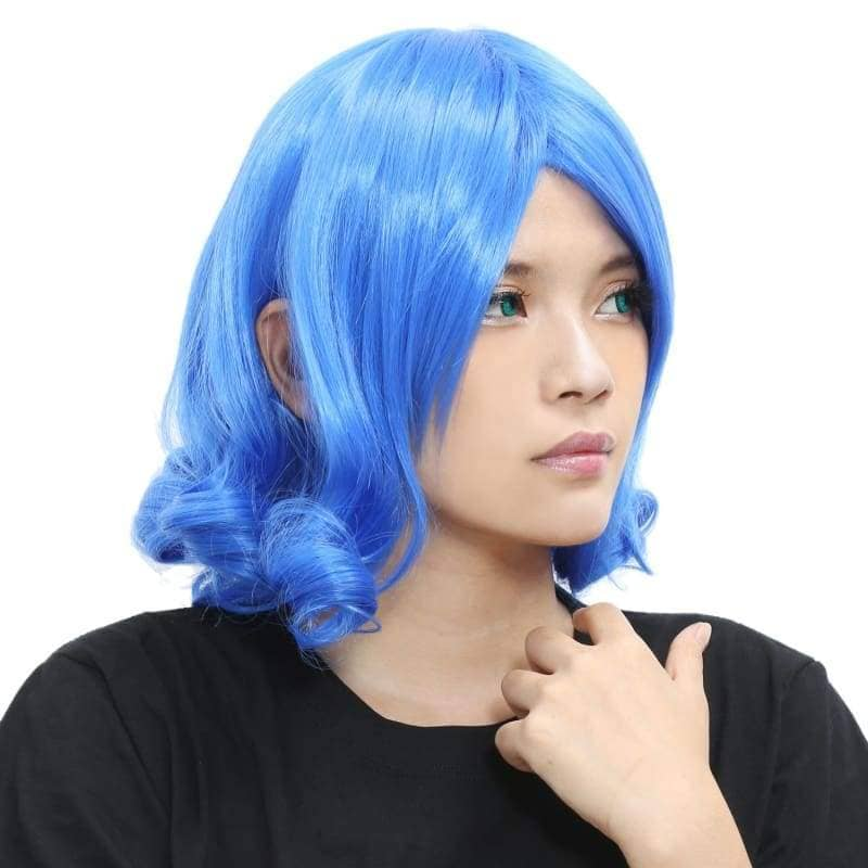 Juvia Wig Fairy Tail Cosplay Short Dark Blue Curly - Wigs 4