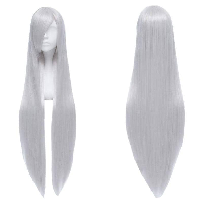 K Project Anna Kushina Cosplay Long Straight Silver White Wig - Wigs 1