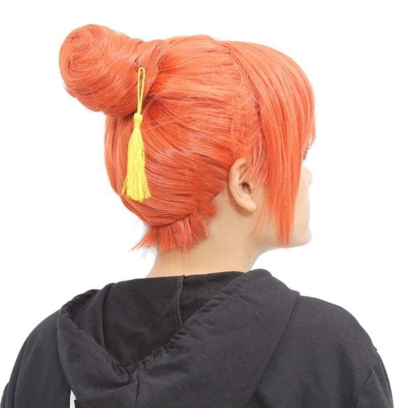Kagura Wig Gintama Cosplay Orange Bun Style - Wigs 4