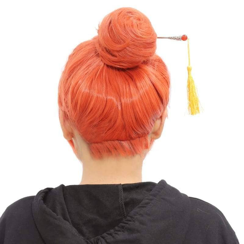 Kagura Wig Gintama Cosplay Orange Bun Style - Wigs 2