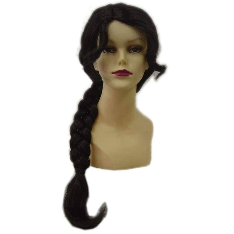 Katniss Wig Hunger Games Cosplay Black Braid Hairpiece - Wigs 1