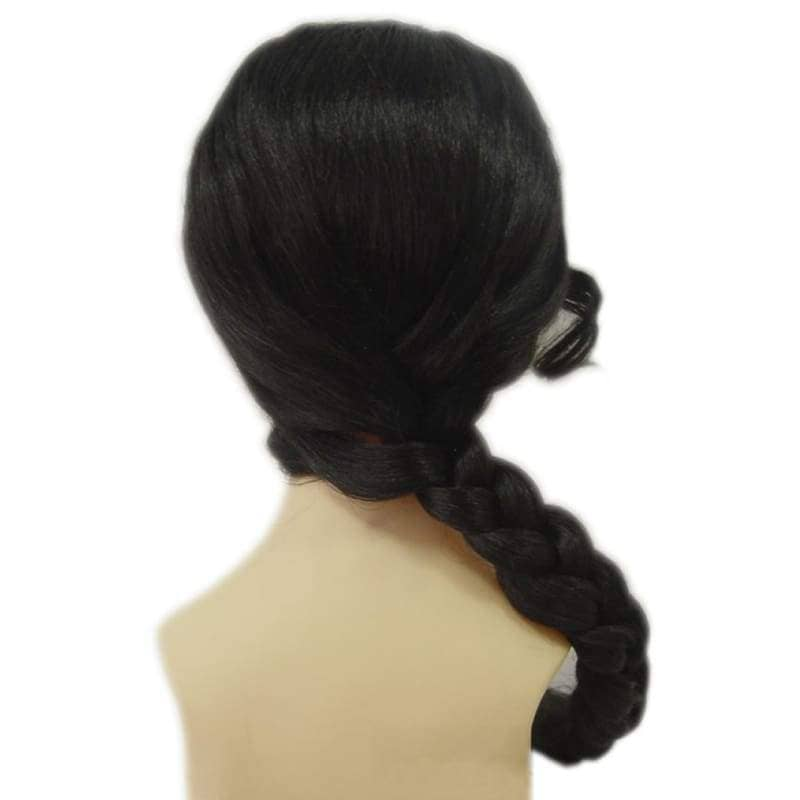 Katniss Wig Hunger Games Cosplay Black Braid Hairpiece - Wigs 2