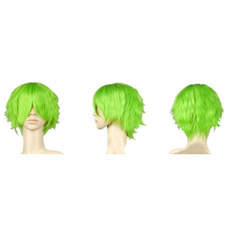 Keimi Wig One Piece Cosplay Short Green Synthetic Anime - Wigs 2
