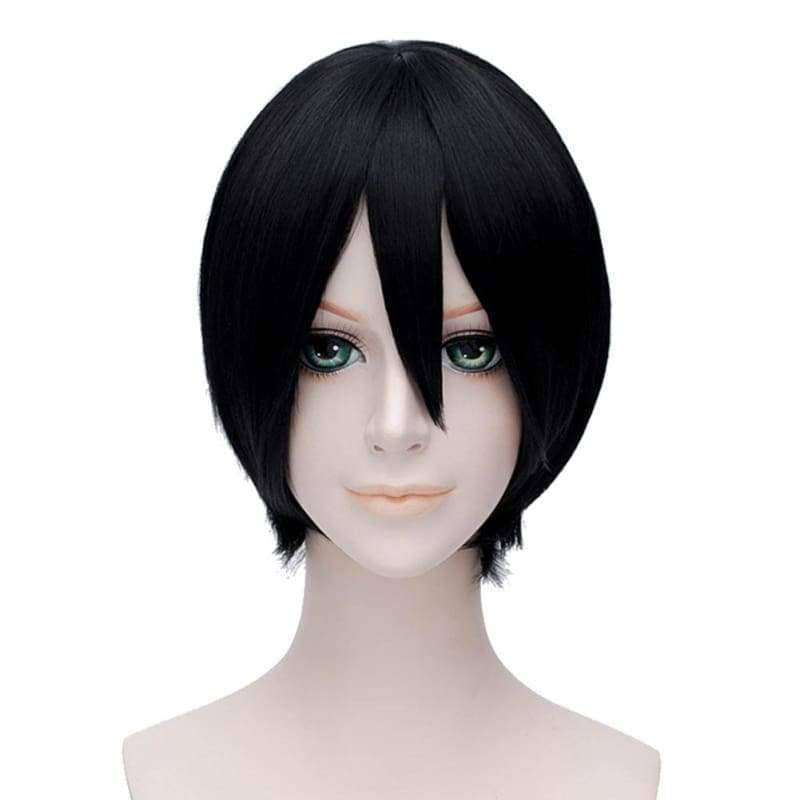 Kiku Honda Cosplay Hetalia Axis Powers Japan Short Black Wig - Wigs 1
