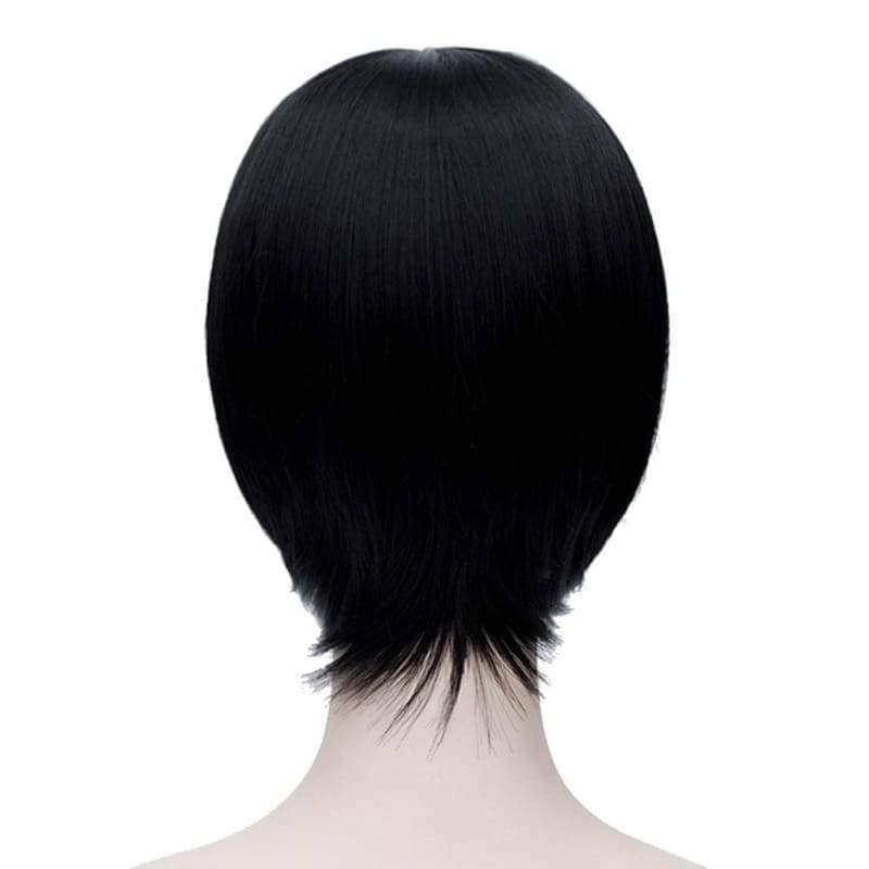 Kiku Honda Cosplay Hetalia Axis Powers Japan Short Black Wig - Wigs 2