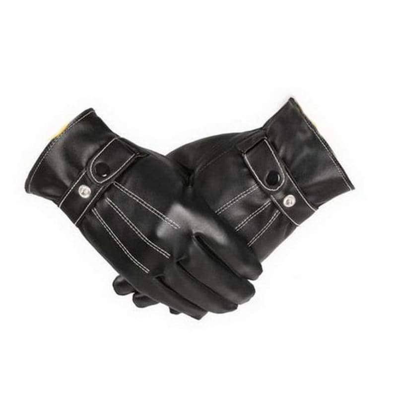 Kylo Ren Gloves Star Wars Cosplay Pu Black Smart Touch Screen Winter For Men - Props 1