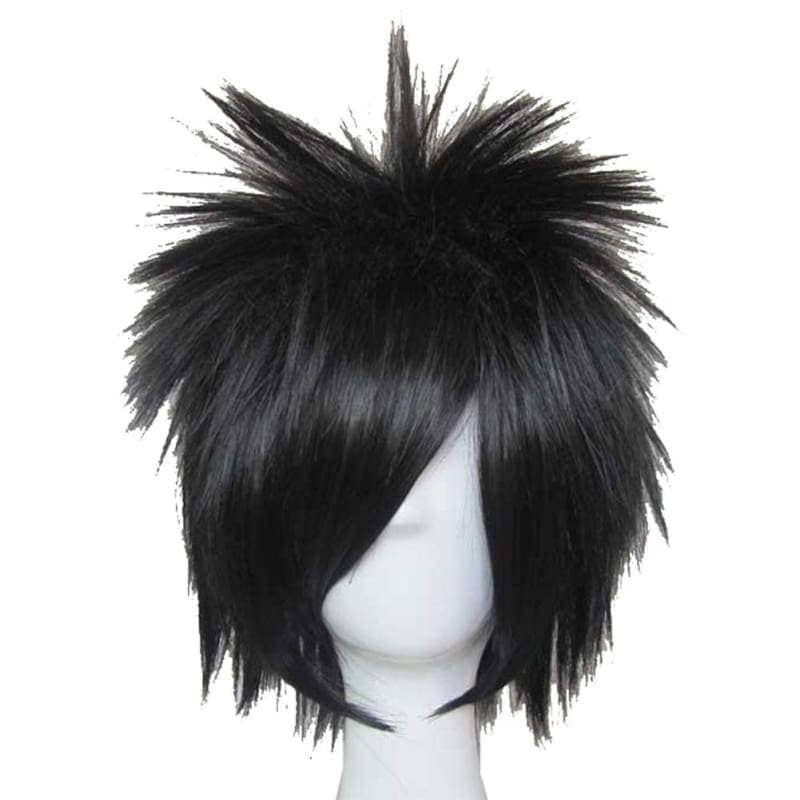L Lawliet Wig Death Note Cosplay Short Black Synthentic Anime With Adjustable Lace Cap - Wigs 1