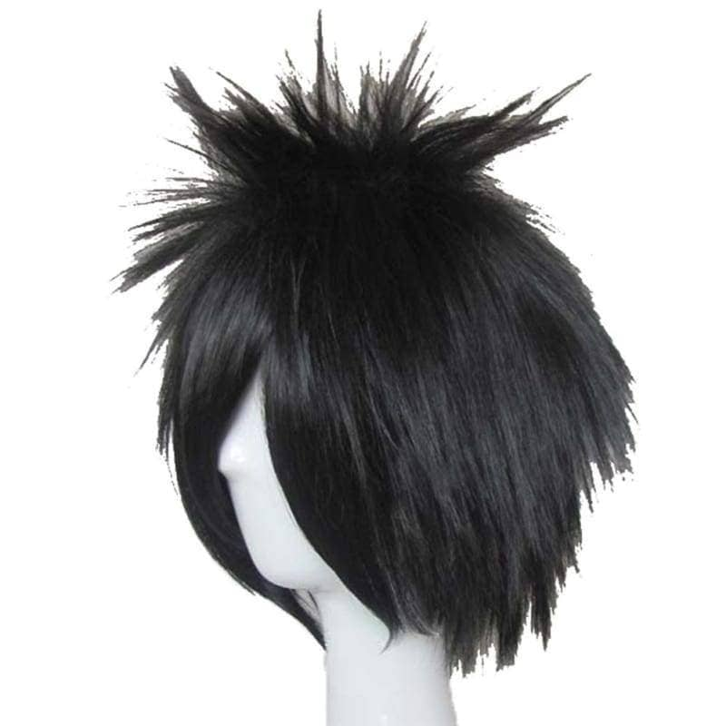 L Lawliet Wig Death Note Cosplay Short Black Synthentic Anime With Adjustable Lace Cap - Wigs 3