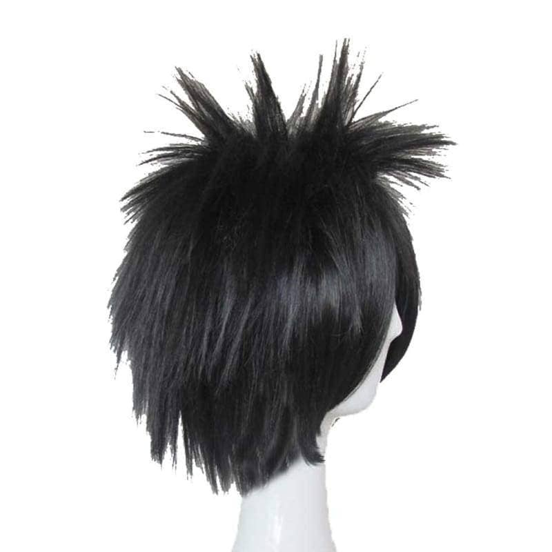 L Lawliet Wig Death Note Cosplay Short Black Synthentic Anime With Adjustable Lace Cap - Wigs 4