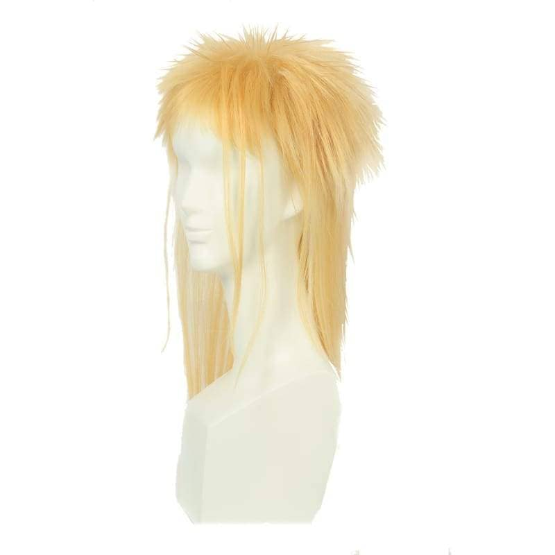 Labyrinth Jareth Particular Hairstyle Wig Long Blonde Cosplay - Wigs 2