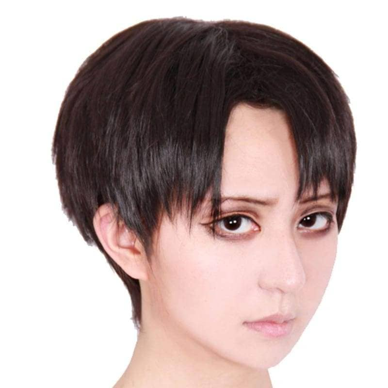 Levi Wig Aot Attack On Titan Cosplay Short Gray Black - Wigs 1