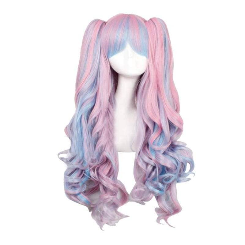 Lolita Wigs Cosplay Beautiful Long Curly Wig Various Style - 3