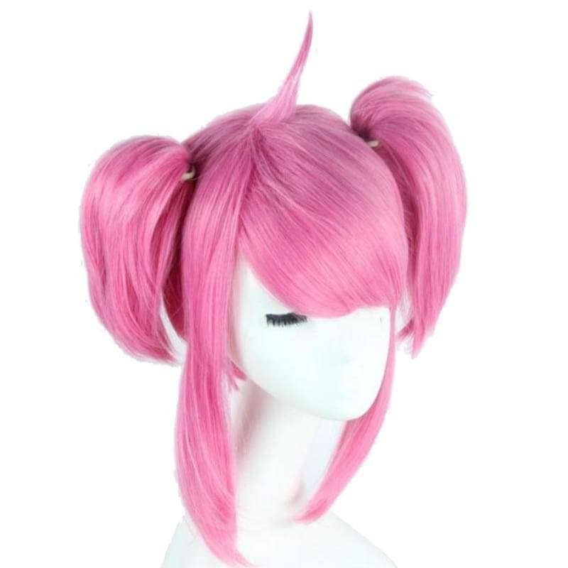 Lux Wig League Of Legends Cosplay Short Pink With Bunches Oblique Bangs Costume - Wigs 2