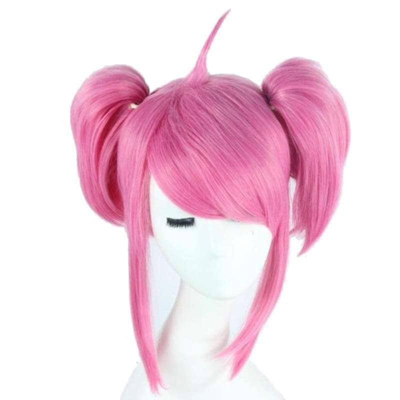 Lux Wig League Of Legends Cosplay Short Pink With Bunches Oblique Bangs Costume - Wigs 1