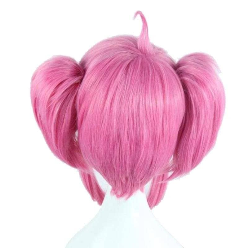 Lux Wig League Of Legends Cosplay Short Pink With Bunches Oblique Bangs Costume - Wigs 3