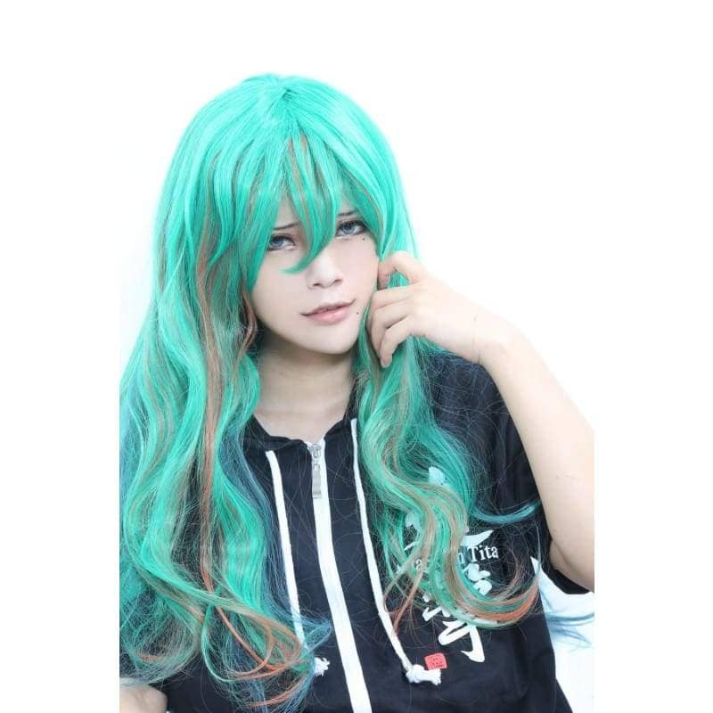 Makishima Yuusuke Wig Yowamushi Pedal Cosplay Gradient Color Long Wavy - Wigs 5