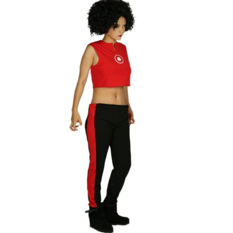 Marvels New Iron Woman Riri Williams Costume Ultra-Short Sleeveless T-Shirt With Pants Cosplay - T-Shirts 3