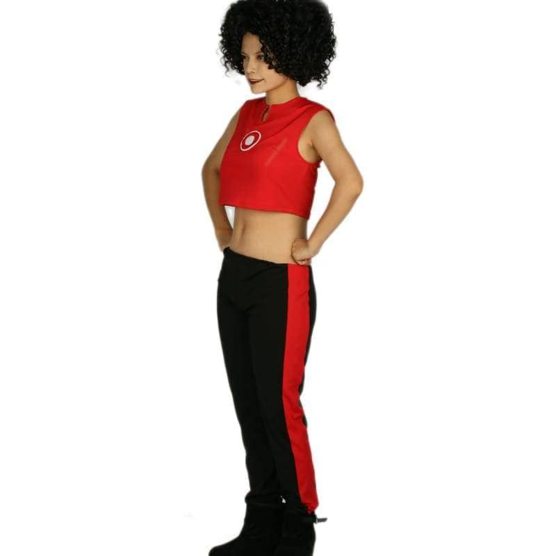Marvels New Iron Woman Riri Williams Costume Ultra-Short Sleeveless T-Shirt With Pants Cosplay - T-Shirts 4