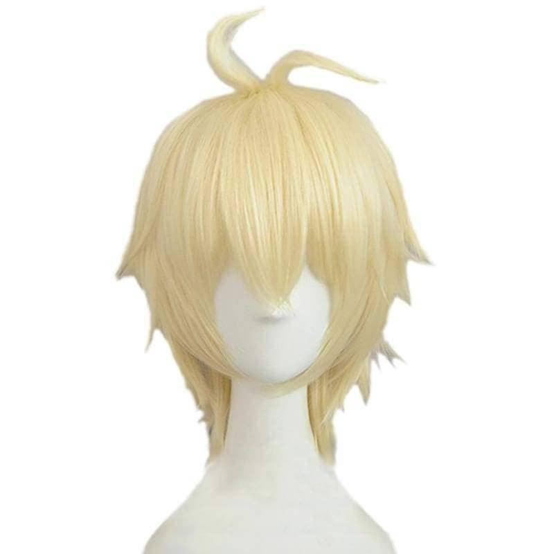 Mikaela Hyakuya Wig Owari No Seraph Cosplay Short Golden Anime - Wigs 1