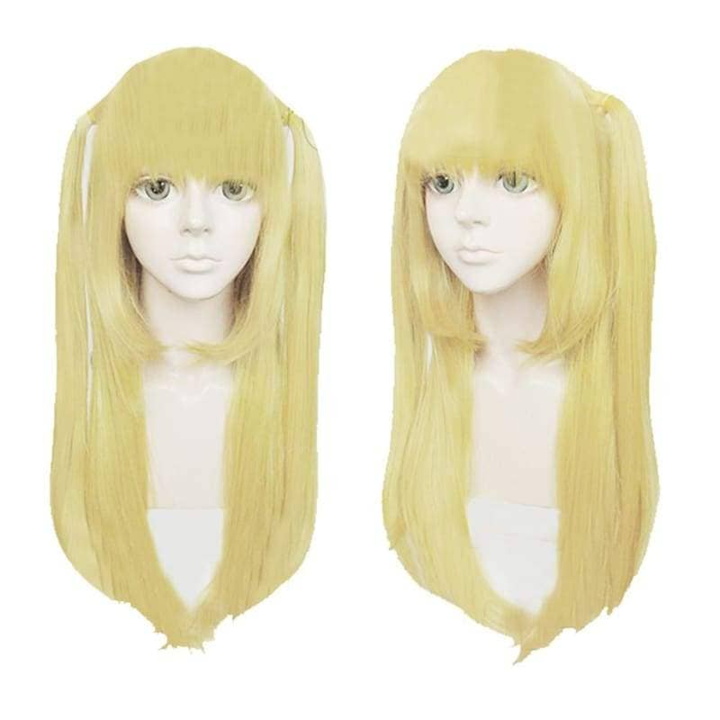 Misa Amane Wig Death Note Cosplay Anime Long Straight Golden Yellow Costume 80cm - Wigs 1