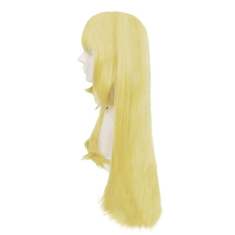 Misa Amane Wig Death Note Cosplay Anime Long Straight Golden Yellow Costume 80cm - Wigs 3