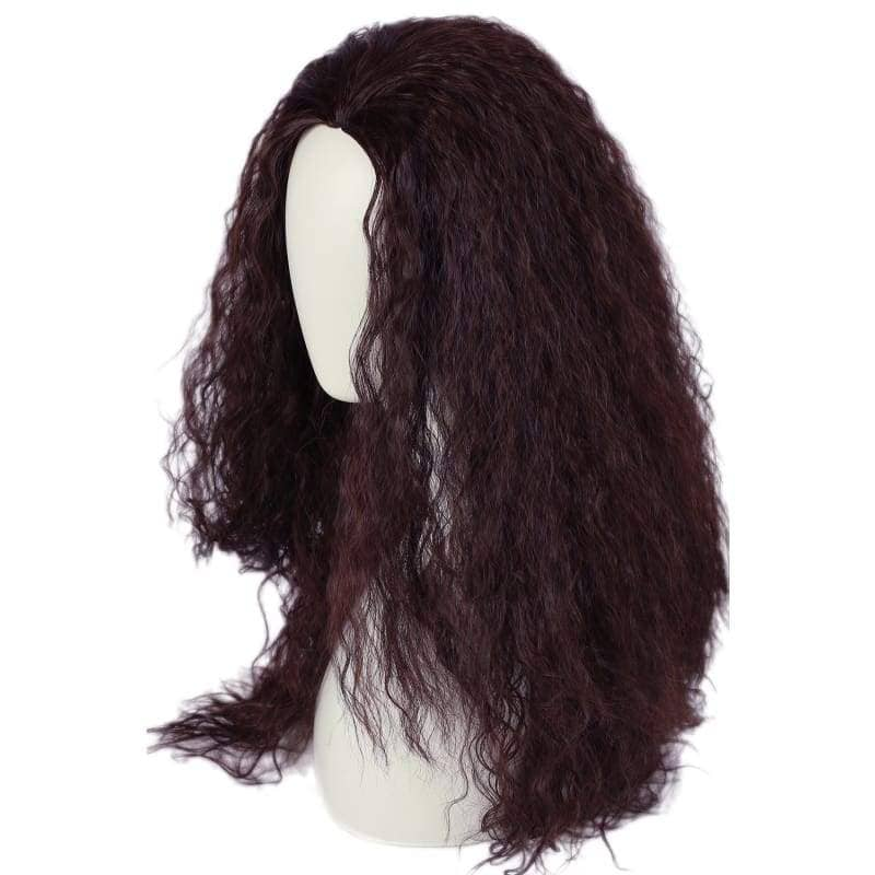 Moana Waialiki Cosplay Wig Brown Color Long Curly Permed Hair And Halloween Props - Wigs 2
