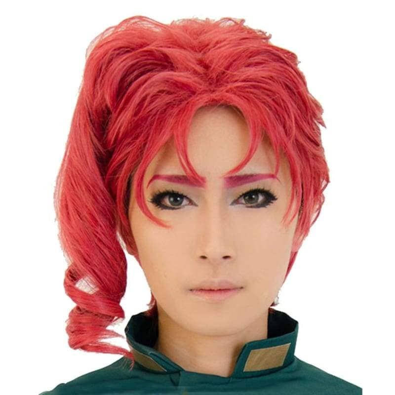 Noriaki Kakyoin Wig Jojos Bizarre Adventure Cosplay Prestyled Short Red Curly - Wigs 1