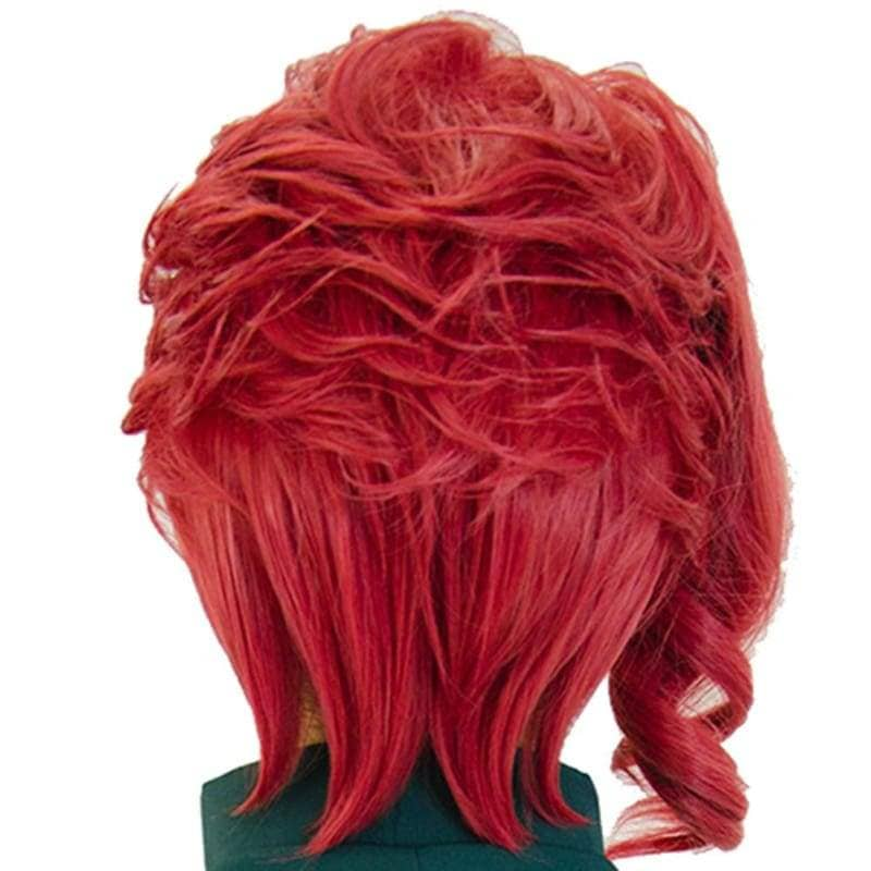 Noriaki Kakyoin Wig Jojos Bizarre Adventure Cosplay Prestyled Short Red Curly - Wigs 2