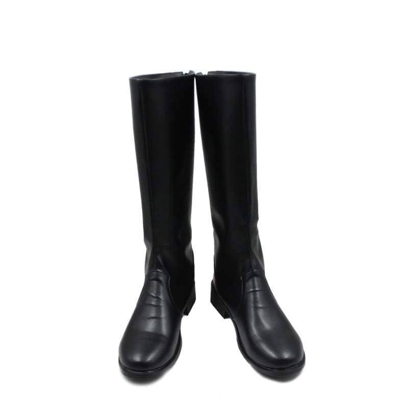 One Piece Sabo Black Pu Knee-High Boots Riding Cosplay Shoes - Custom Made - 1