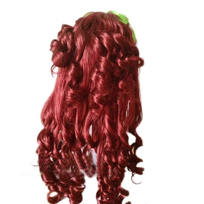 Poison Ivy Cosplay Batman Synthitic Fiber Womens Long Red Curly Party Wig - Wigs 2