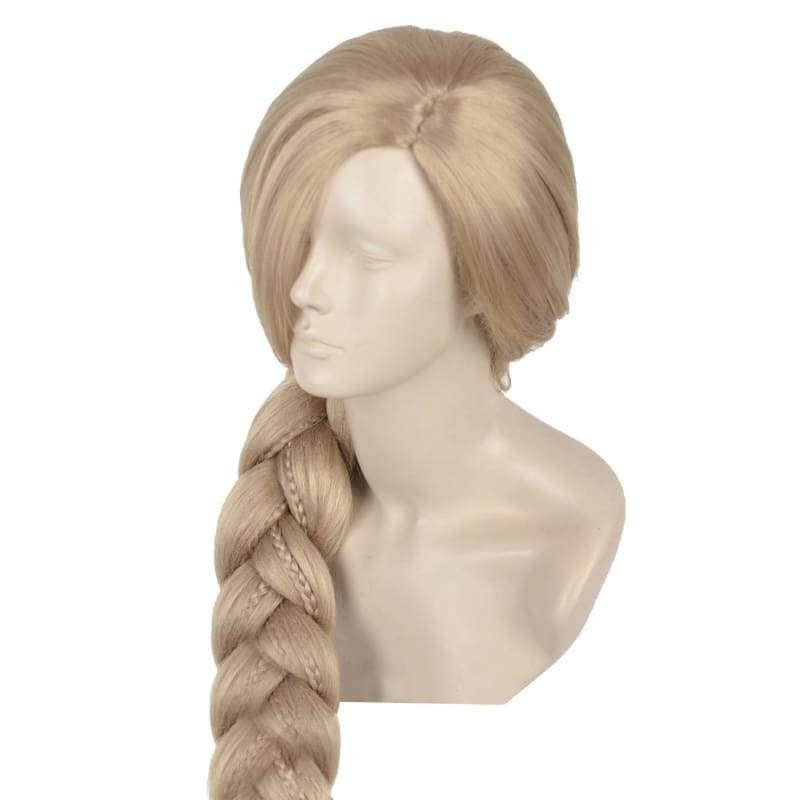 Rapunzel Wig Tangled Disney Cosplay Long Blonde Prestyled Braided Ponytail Halloween Party Adult - Wigs 2