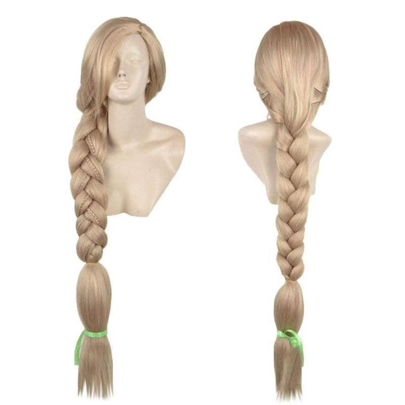 Rapunzel Wig Tangled Disney Cosplay Long Blonde Prestyled Braided Ponytail Halloween Party Adult - Wigs 1