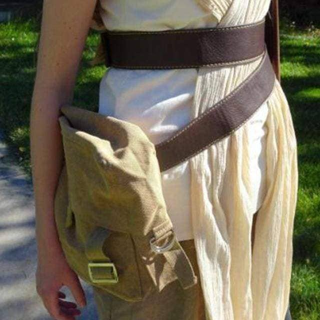 Rey Bag Star Wars 7 Cosplay Costume Accessories Brown Canvas Rey Sidebag with PU Belt Props- Xcoser International Costume Ltd.