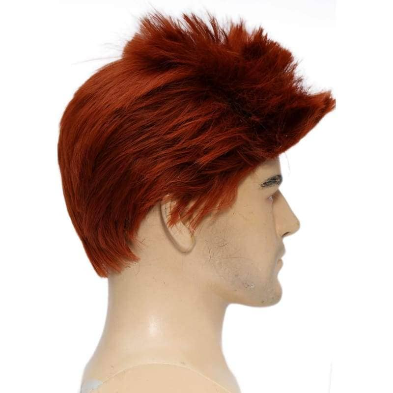 Riddler Wig Batman Cosplay Costume Cool Wine Red Short Hair Accessories - Wigs 3