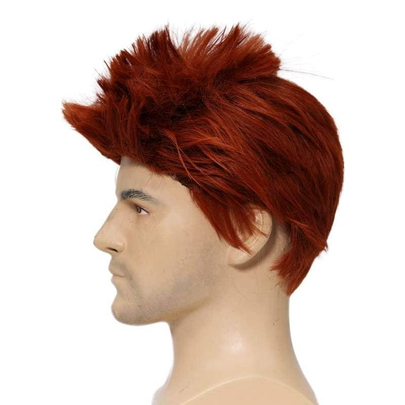 Riddler Wig Batman Cosplay Costume Cool Wine Red Short Hair Accessories - Wigs 4