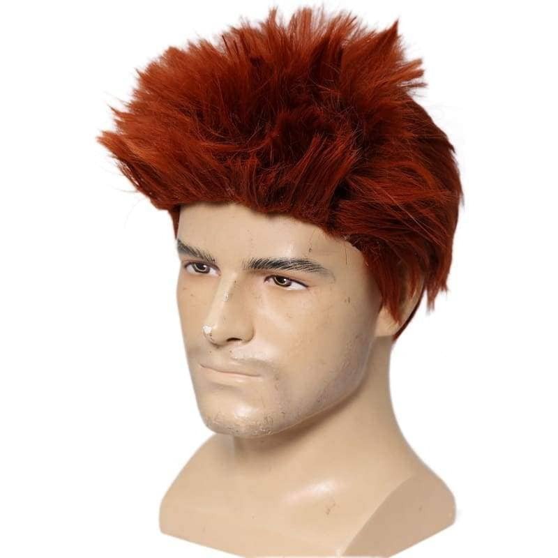Riddler Wig Batman Cosplay Costume Cool Wine Red Short Hair Accessories - Wigs 6