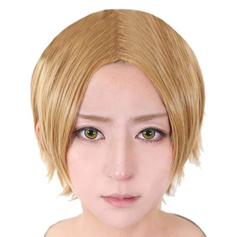 Rikio Kamamoto Cosplay K Project Short Golden Heat Resistant Anime Party Wig - Wigs 1