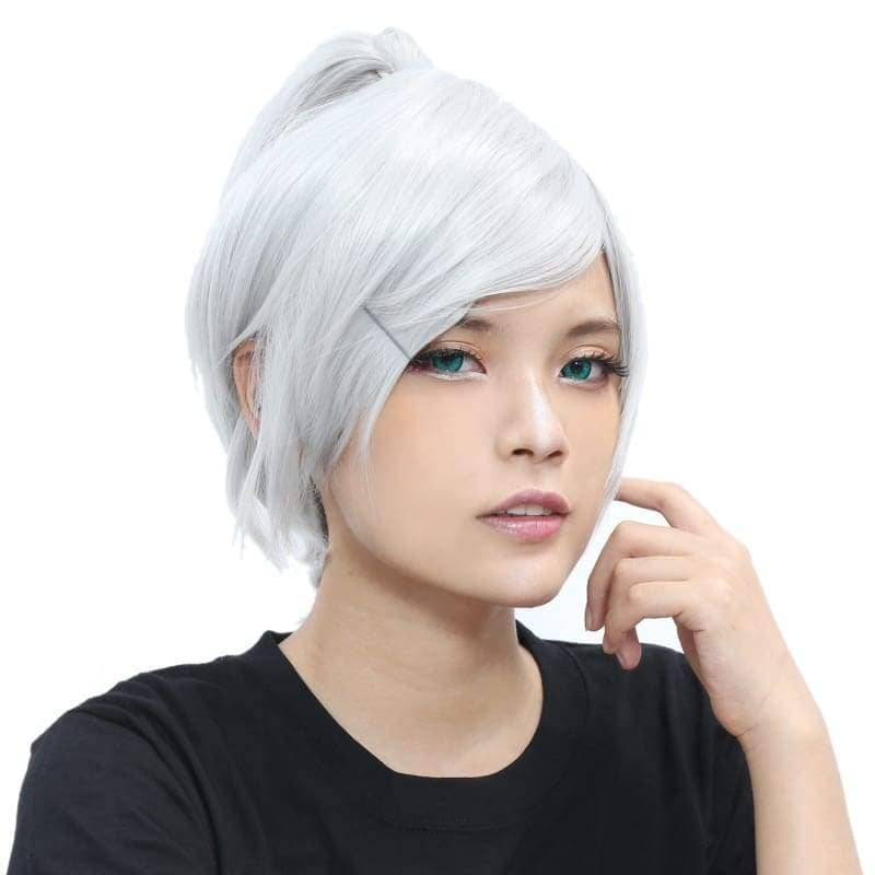 Riven Wig League Of Legends Cosplay Short Silver Grey - Wigs 4