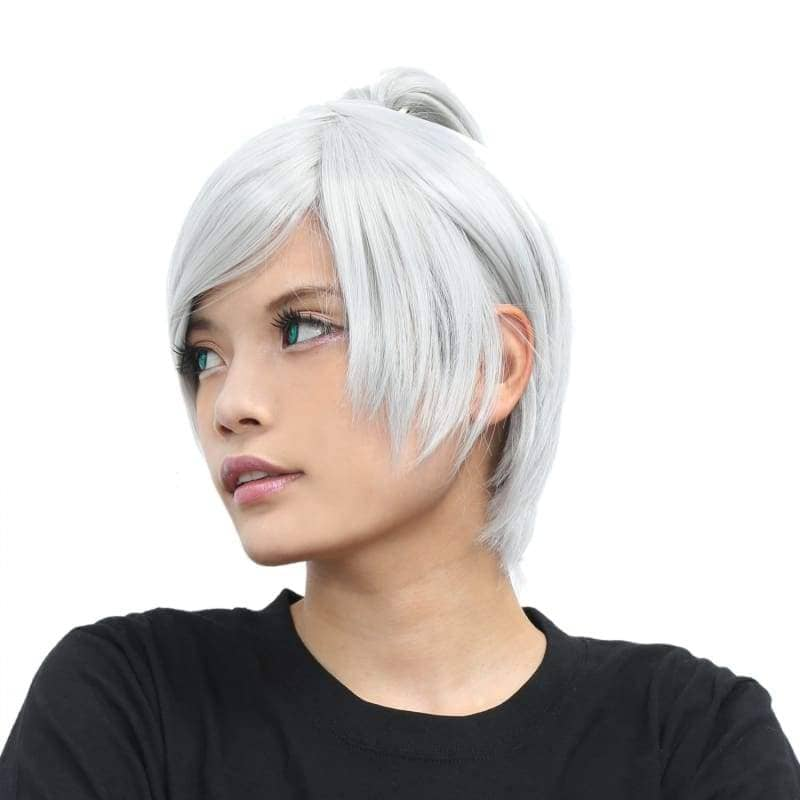 Riven Wig League Of Legends Cosplay Short Silver Grey - Wigs 5