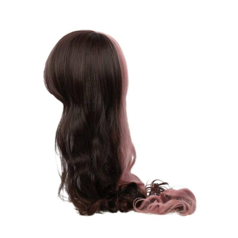 Rwby Neo Wig Pink & Brown Long Curly Cosplay Accessory - Wigs 5