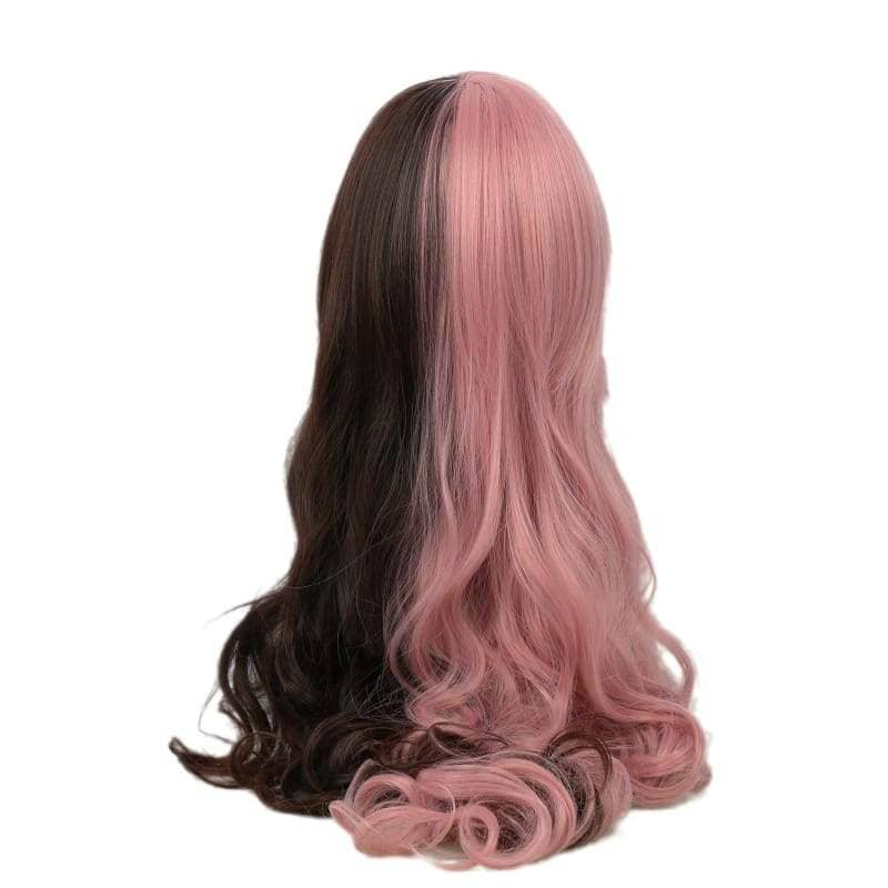 Rwby Neo Wig Pink & Brown Long Curly Cosplay Accessory - Wigs 2
