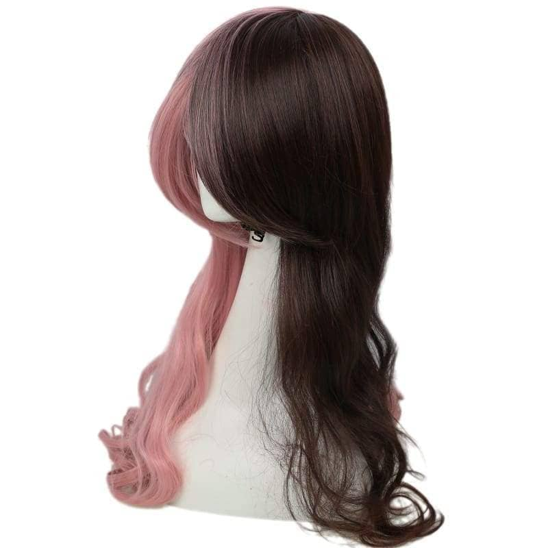 Rwby Neo Wig Pink & Brown Long Curly Cosplay Accessory - Wigs 4