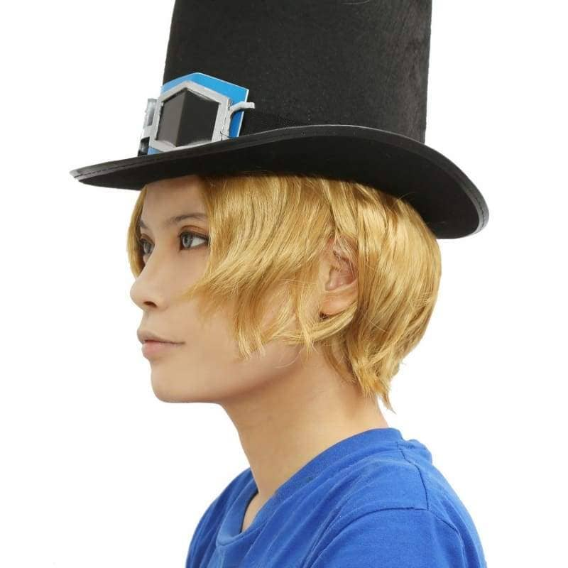 Sabo Wig One Piece Cosplay Short Curly Golden - Wigs 7