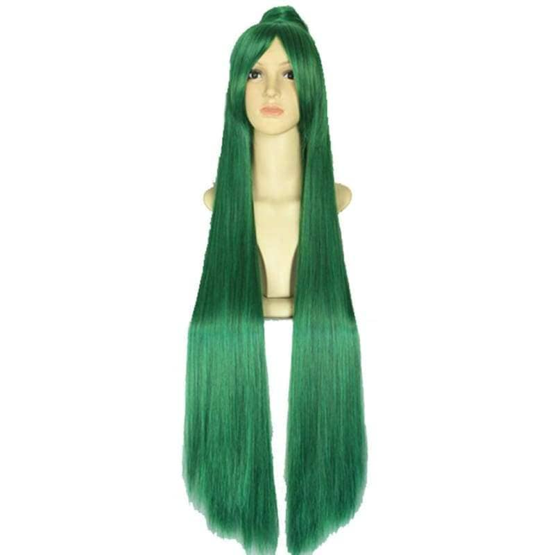 Sailor Pluto Long Straight Green Wig - Wigs 1