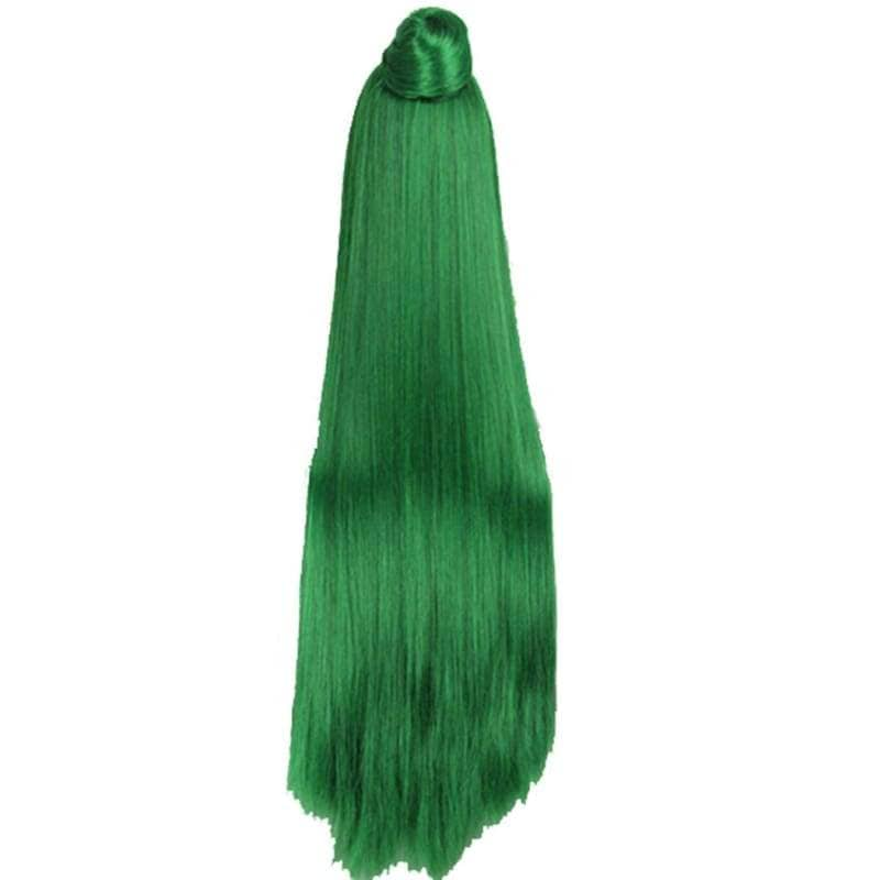 Sailor Pluto Long Straight Green Wig - Wigs 2