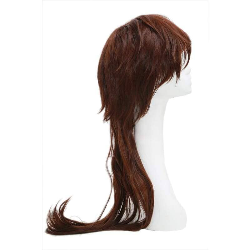 Sanada Yukimura Wig Devil Kings Sangoku Basara Cosplay Short Straight Brownish Red - Wigs 4