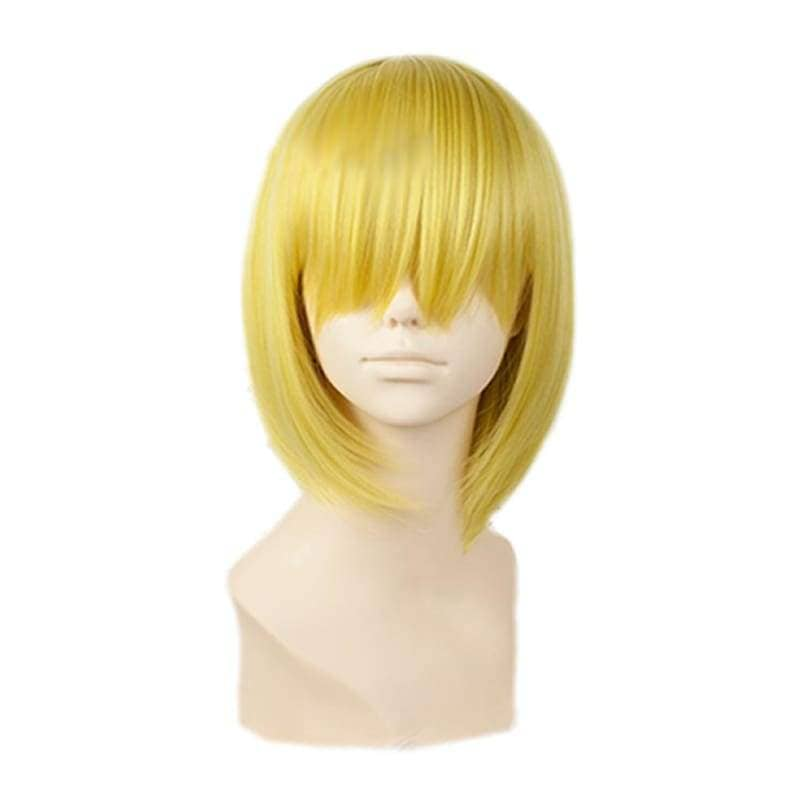 Sanji Wig One Piece Short Straight Golden Blonde Halloween Party With Free Cap - Wigs 2